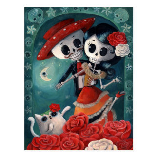 Dead Skeleton Mexican Lovers Postcards