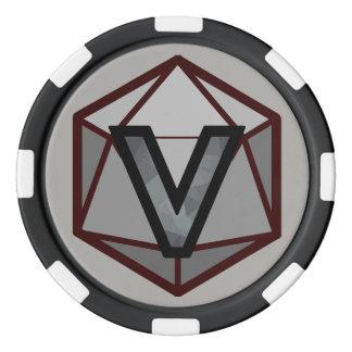 DEADLANDS - Jeton de poker gris d'équipe