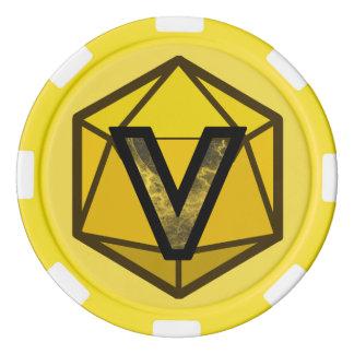 DEADLANDS - Jeton de poker jaune d'équipe