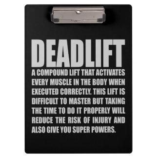 Deadlift - séance d'entraînement drôle de