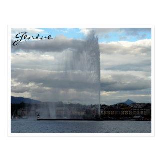 d'eau de jet de genève carte postale