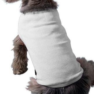 Débardeur à nervures de chienchien blanc simple t-shirt pour chien