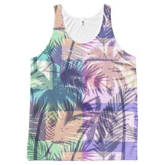 Débardeur abstrait de motif de palmier