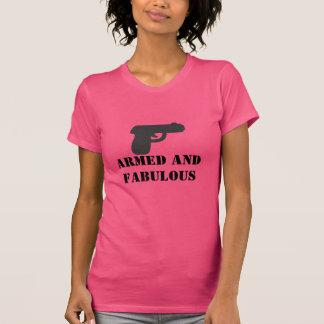 Débardeur armé et fabuleux de dame d'arme à feu