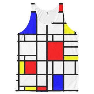 Débardeur bleu jaune rouge de motif d'art moderne