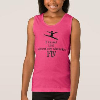 Débardeur Citation de chemise de gymnastique de danse grande
