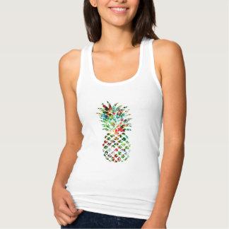 Débardeur Copie tropicale d'ananas de fleur