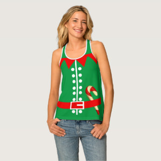 Débardeur Costume de Santa Elf de nouveauté