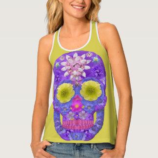 Débardeur Crâne 5 de fleur