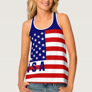 Débardeur de drapeau des Etats-Unis | Racerback