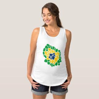 Débardeur De Maternité Chemise brésilienne de maternité de flower power