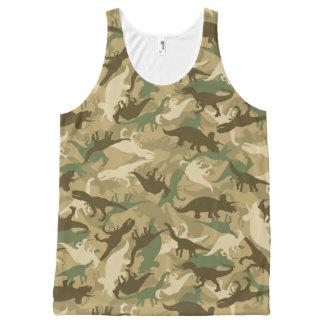 Débardeur d'impression de dinosaure de camouflage