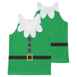 Débardeur drôle d'Elf de Noël du vert XL en