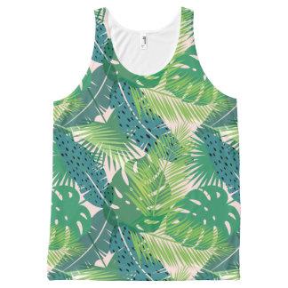 Débardeur en feuille de palmier abstrait de motif