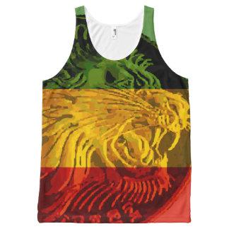 Débardeur éthiopien de lion de Rasta unisexe