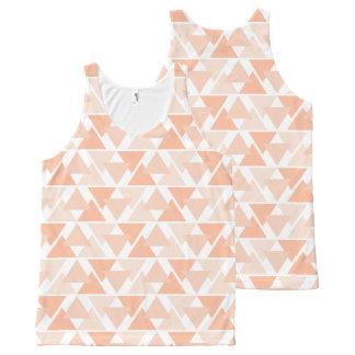 Débardeur géométrique orange en pastel de