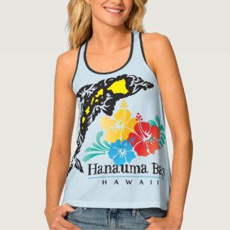 Débardeur Îles de dauphin et fleurs de ketmie
