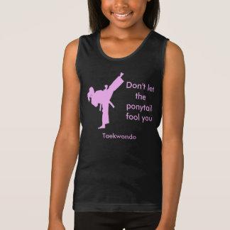 Débardeur La fille du Taekwondo ne laissent pas la queue de