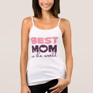 Débardeur La meilleure maman dans la courroie de spaghetti