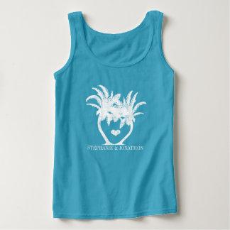 Débardeur Mariage de plage de palmier