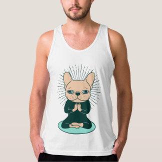 Débardeur Méditez avec le Frenchie mignon pour rester le zen