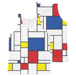Débardeur minimaliste d'art moderne de Mondrian de