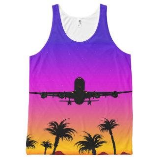 Débardeur Pacifique d'impression d'avion partout