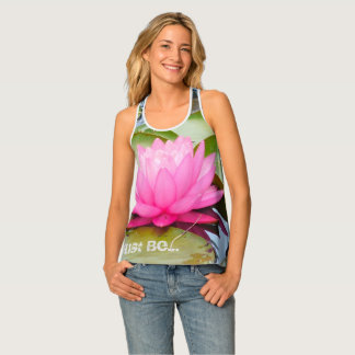 Débardeur réservoir de yoga de racerback de lotus