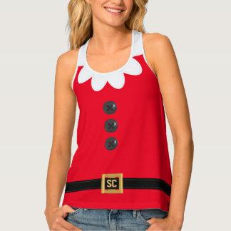 Débardeur rouge de fête drôle d'Elf de Noël