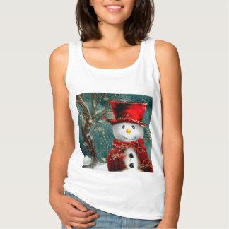 Débardeur Snowmans mignons - illustration de bonhomme de