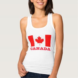 Débardeur Tanktops de jour du Canada avec le drapeau
