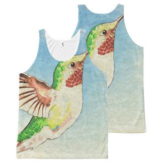 Débardeur Tout-imprimé Art de bleu de colibri