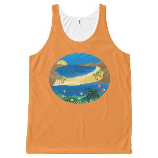 Débardeur Tout-imprimé Baie Hawaï de Hanauma
