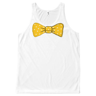 Débardeur Tout-imprimé Copie jaune de cravate d'arc avec le motif de