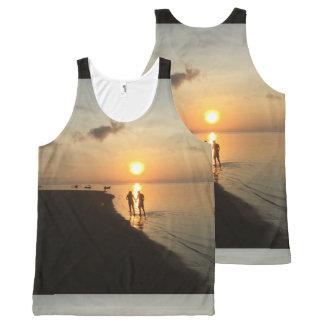 Débardeur Tout-imprimé Coucher du soleil et plage de Bali