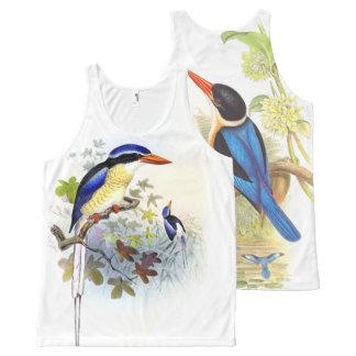 Débardeur Tout-imprimé Dessus tropical d'animaux de faune d'oiseaux de