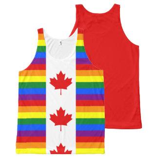Débardeur Tout-imprimé Drapeau canadien du Canada d'arc-en-ciel de fierté