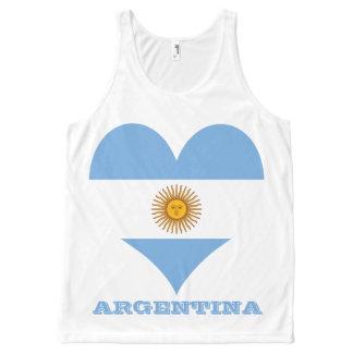 Débardeur Tout-imprimé Drapeau de l'Argentine