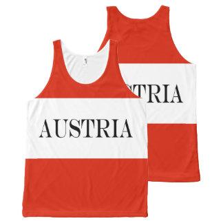 Débardeur Tout-imprimé Drapeau de l'Autriche