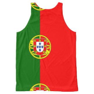Débardeur Tout-imprimé Drapeau national du Portugal