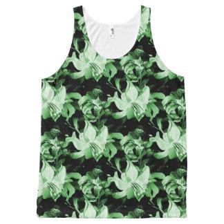 Débardeur Tout-imprimé Floral vert