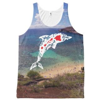 Débardeur Tout-imprimé Îles de dauphin d'Hawaï de baie de Hanauma