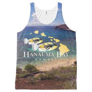 Débardeur Tout-imprimé Îles de poissons d'état d'Hawaï de baie de Hanauma