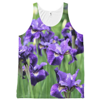 Débardeur Tout-imprimé Iris sibérien violet, le frère de César,
