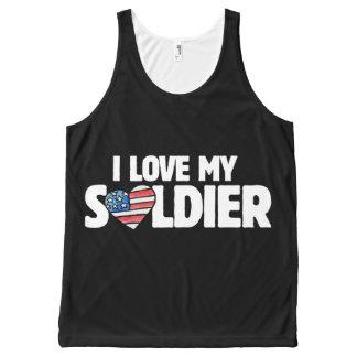 Débardeur Tout-imprimé j'aime mon soldat