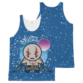 Débardeur Tout-imprimé Kawaii Drax dans l'espace