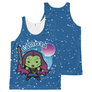 Débardeur Tout-imprimé Kawaii Gamora dans l'espace