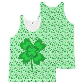 Débardeur Tout-imprimé Motif irlandais chanceux vert en pastel de