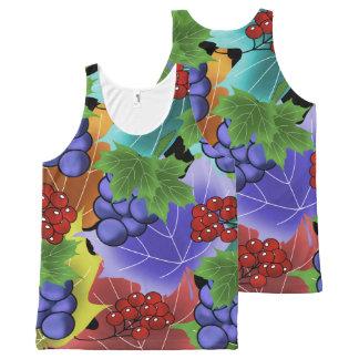 Débardeur Tout-imprimé raisins et feuilles