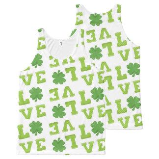 Débardeur Tout-imprimé Trèfle du jour de St Patrick d'amour